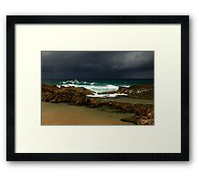 There's A Storm Out On The Ocean Framed Print
