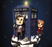 3d papercraft Dr who by Gwm2
