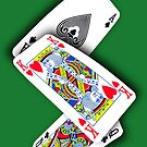 Smartphone Case - Ace King Queen  by Mark Podger