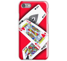 Smartphone Case - Ace King Queen - Red iPhone Case/Skin