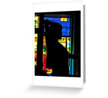 Stained Glass Bellydance Greeting Card