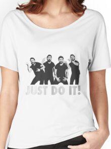 Shia Labeouf Just Do It / Motivational Speech Design Black & White Women's Relaxed Fit T-Shirt