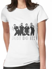 Shia Labeouf Just Do It / Motivational Speech Design Black & White Womens Fitted T-Shirt