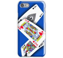 Smartphone Case - Ace King Queen - Blue iPhone Case/Skin