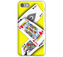 Smartphone Case - Ace King Queen - Yellow  iPhone Case/Skin