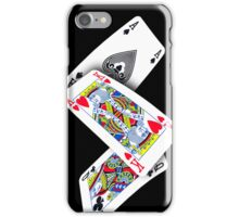 Smartphone Case - Ace King Queen - Black  iPhone Case/Skin