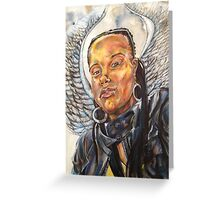 Giana has Wings Mixed Media Drawing Greeting Card