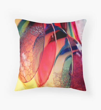 Plastic Cutlery Throw Pillow