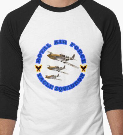 Royal Air Force Eagle Squadron Designer Tees & Stickers Men's Baseball ¾ T-Shirt