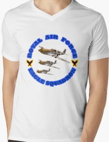 Royal Air Force Eagle Squadron Designer Tees & Stickers Mens V-Neck T-Shirt