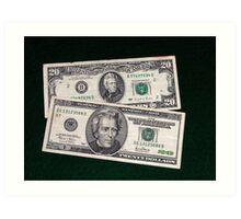 The Ever Changing $20 Dollar Bill - Art Print