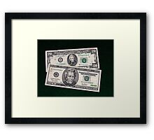 The Ever Changing $20 Dollar Bill - Framed Print