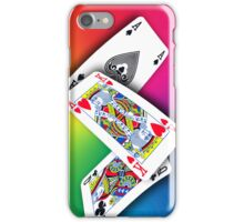 Smartphone Case - Ace King Queen - Rainbow iPhone Case/Skin