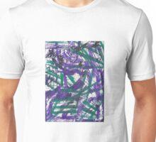 Purple Fusion Abstract Design Unisex T-Shirt