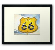 Route 66 Pop Art Framed Print