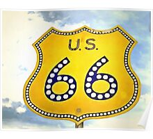 Route 66 Pop Art Poster