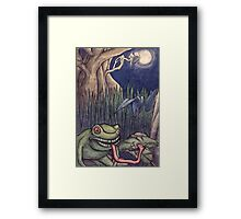 Frog in the Moonlight Framed Print