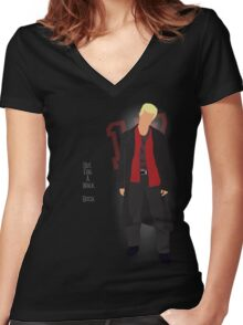 Hostile 17 Quote Women's Fitted V-Neck T-Shirt