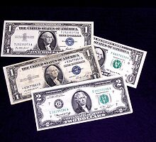 The Ever Changing One Dollar Bill & A Two Dollar Bill- by Schoolhouse62