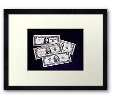 The Ever Changing One Dollar Bill & A Two Dollar Bill- Framed Print