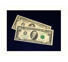 The Classic Old 1995 Five & Ten Dollar Bills - Art Print