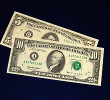 The Classic Old 1995 Five & Ten Dollar Bills - by Schoolhouse62