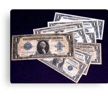 The Ever Changing One Dollar Bill - Canvas Print
