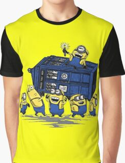 Minions Invented Tardis Graphic T-Shirt