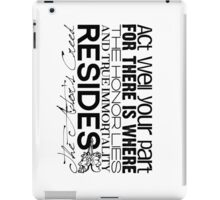 The Actor's Creed iPad Case/Skin