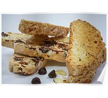 Chocolate and Almond Biscotti Poster