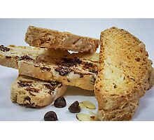 Chocolate and Almond Biscotti Photographic Print