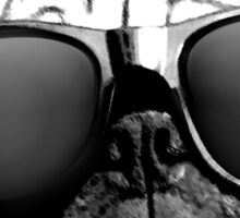 Caesar the Pug in Rayban Sunglasses by AiReal Apparel Sticker