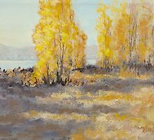 """Autumn Abandon"" Original Landscape Painting by Karen Ilari"