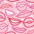 Smiles and kisses pattern by oksancia