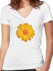 Bright Flower Women's Fitted V-Neck T-Shirt
