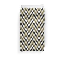 Chevron Elegance Gold and Black Duvet Cover