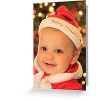 Baby Christmas Elf Greeting Card