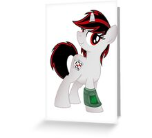 Blackjack is Best Pony T-shirt (from the Project Horizons fanfic) Greeting Card