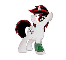Blackjack is Best Pony T-shirt (from the Project Horizons fanfic) Photographic Print