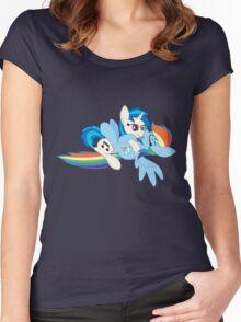 Vinyl Scratch x Rainbow Dash Women's Fitted Scoop T-Shirt