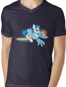 Vinyl Scratch x Rainbow Dash Mens V-Neck T-Shirt