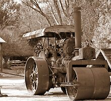 Traction Engine by Lozzar Landscape