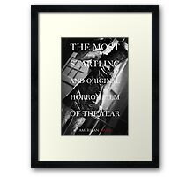 American Mary Evil Dead Style Poster 2 Framed Print