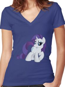 Rarity Tshirt (My Little Pony: Friendship is Magic) Women's Fitted V-Neck T-Shirt