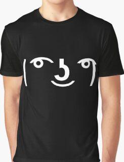 Lenny Face ( ͡° ͜ʖ ͡°) (White) Graphic T-Shirt
