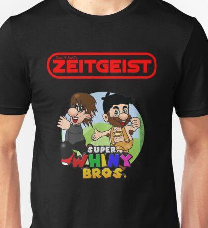 Dan & Karl's Zeitgeist - Super Whiny Bros. -RED-  Unisex T-Shirt