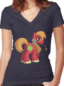 Big Macintosh (My Little Pony: Friendship is Magic) Women's Fitted V-Neck T-Shirt