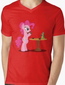 Pinkie Pie and Gummy Play Magic Shirt (My Little Pony: Friendship is Magic) Mens V-Neck T-Shirt