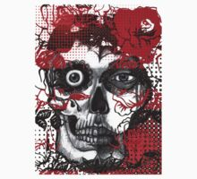 day of the dead, roses halftone by tiffanyo