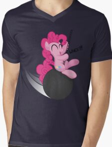 Pinkie Pie and the Wrecking Ball Shirt (My Little Pony: Friendship is Magic) Mens V-Neck T-Shirt